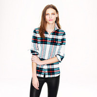 BOY SHIRT IN ROCK SALT PLAID