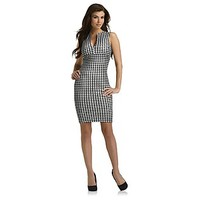 Kardashian Kollection- -Women's Sheath Dress - Houndstooth Check-Clothing-Women's-Dresses