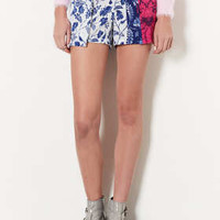 MULTI FLORAL LAYERED SHORTS