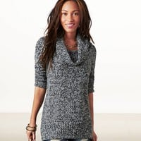 AE Heathered Cowl Neck Sweater