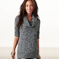AEO Women's Heathered Cowl Neck Sweater