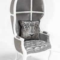 www.roomservicestore.com - Balloon Chair in Metallic Silver Linen