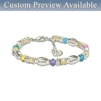 Personalized Birthstone Bracelet: My Family, My Joy