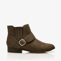 Classic Faux Suede Chelsea Boots