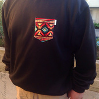 Pocket Crewneck Sweatshirts. Sizes Unisex Adult Small, Medium, Large, Extra Large
