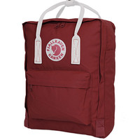 Fjallraven Classic Kanken Backpack Bag - Ox Red and White