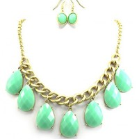 Teardrop Mint Necklace - Kely Clothing