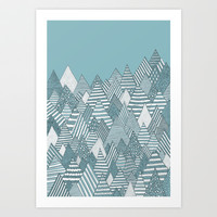 Winterly Forest Art Print by Anita Ivancenko