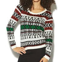Jacquard Pullover Sweater | Wet Seal