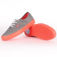 Vans Unisex Authentic Lite Sneaker - Steel Grey Hot Coral