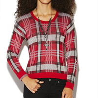 Plaid Pullover Sweater | Wet Seal