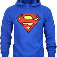 Superman Mens Royal Blue Pull Over Hoody