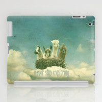 FUNNY LAMA  *** Never Stop Exploring ***  iPad Case by Monika Strigel