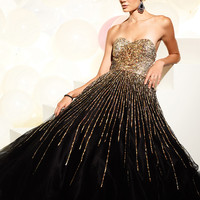 Ball Gown Sequin Terani Pageant Dress 95220P
