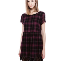 CROCHET CHECKS PLAYSUIT - DRESSES - WOMAN - PULL&BEAR Ireland