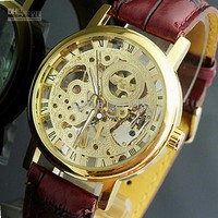 Wholesale Wristwatches - Buy Hand-winding Mechanical Watches Automatic Skeleton 18k Gold Wrist Watch 001, $16.81 | DHgate