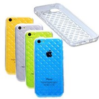 Etui Le Bon (tm) Case for Iphone 5c Case. Cover for Iphone 5c Cover. Criss Cross Patern Clear Transparent