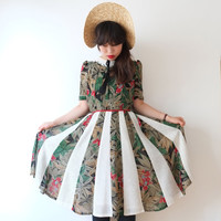 Greenhouse Japanese vintage dress, S - M