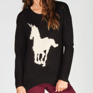 Lira Unicorn Womens Sweater Black  In Sizes
