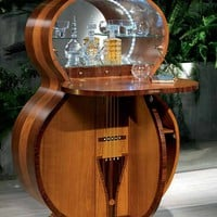 Cherry wood bar cabinet Pois Collection by Carpanelli Classic