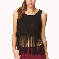 Fringe Queen Embroidered Top