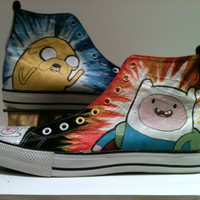 Adventure Time Design by marissascustomkicks on Etsy