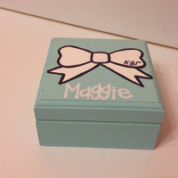 Personalized Sorority Bow Box