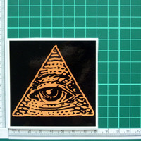 All Seeing Eye Of God Sticker Decal Triangle Pyramid Eye of Providence Religion