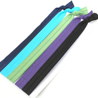 Stretchy Headbands (5) - Modern Headbands - Fabric Hair Tie Headbands - Like Emi Jay Elastic Hairbands - Yoga Head Bands - Teen Headbands