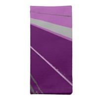 Purple Vanishing Point Dinner Napkins Set of 4