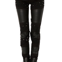 The Spike & Faux Leather Pant