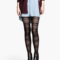 Patterned Tights - from H&M