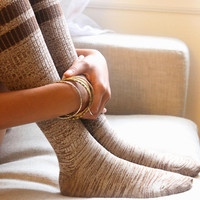Hand Knit Marl Thigh Hi