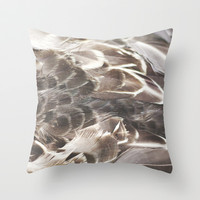 Feathers 2 Throw Pillow by Christine Hall