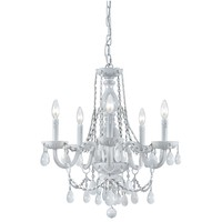 Envogue White Glass Large Chandelier