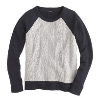 CABLED SWEATSHIRT