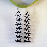 Pyramid Earrings- Light weight modern dangles