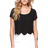 LA Hearts Scallop Shirt at PacSun.com