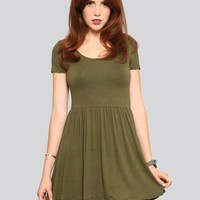 Courtney Babydoll Dress - Olive - Gypsy Warrior | GYPSY WARRIOR