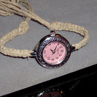 Custom Fit Hemp Watch by OriginalAccents on Etsy