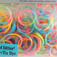 Glitter loom Rubber bands 100 pack New Glitter Tie Dye rubberbands no24