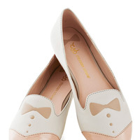 Dash of Dapper Flat in Tan | Mod Retro Vintage Flats | ModCloth.com