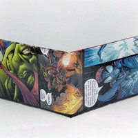 Comic Book Wallet// Spider-Man vs Green Goblin