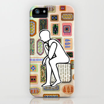 Thinking Man iPhone & iPod Case by Vanya