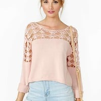 Nasty Gal Sugar Town Crochet Knit