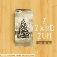 CHRISTMAS Tree iPhone 5 case VINTAGE iPhone 4s case Tree iphone 5s case Galaxy S4 S3 Cover personalized Holiday phone case pine iphone case