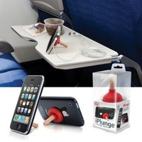 RED Plunger iPlunge Stand Holder for iPhone iPod Touch