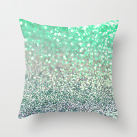 Seafoam Sensations Throw Pillow by Lisa Argyropoulos