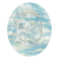 Lisa Argyropoulos Dream Big Oval Clock