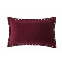 Payton Velvet Pillow - Rhumba Red
